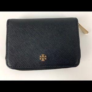 Tory Burch mini Emerson coin wallet purse black